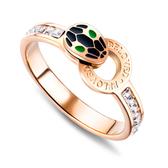 【5折超值價】時尚精美可愛蛇頭造型女款鈦鋼戒指