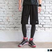 《KS0410》色塊造型腰鬆緊運動短褲 OrangeBear