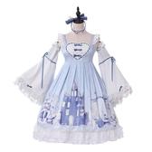 雪國少女長袖op連身裙洛麗塔可愛公主裙洋裝全套
