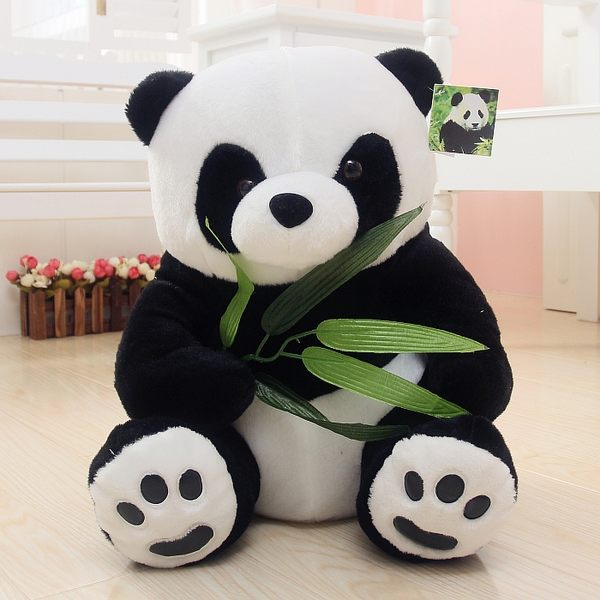 熊貓公仔毛絨玩具黑白可愛大抱抱熊床上睡覺布娃娃送女友圣誕禮物【交換禮物】