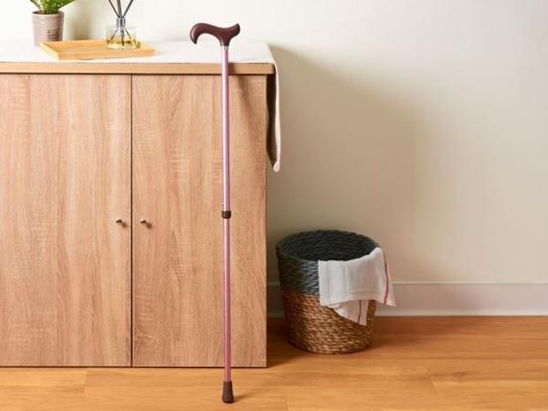 來而康 Merry Sticks 悅杖 醫療用手杖 立體霧面顆粒紋手杖 MS-225-GE兩段式伸縮手杖 贈拐杖支撐夾