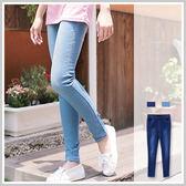 鉛筆褲激瘦美腿M 車線Skinny 超修身貼腿彈性牛仔褲~P619 ~~雙兒網~蜜糖半熟