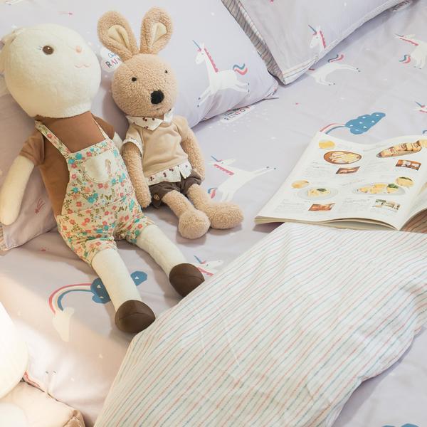 【預購】彩虹小馬 D1雙人床包三件組 100%精梳棉 台灣製 棉床本舖