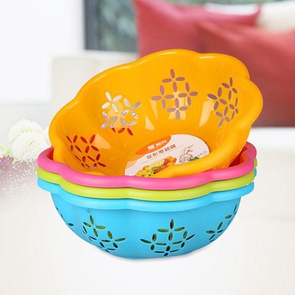 花形水果蔬菜瀝水籃 置物籃 收納籃-艾發現
