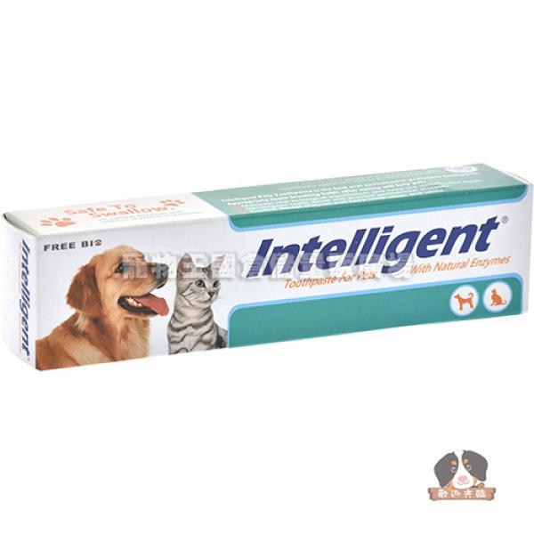 【寵物王國】Intelligent因特力淨-寵物酵素免洗牙膏80g