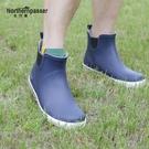 短筒雨鞋男低幫防滑學生防水鞋水靴男士水鞋橡膠鞋釣魚鞋雨靴時尚-ifashion