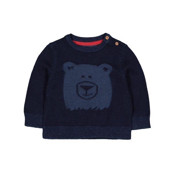 mothercare 藍色小熊針織長袖-精選系列(M0TB771)09個月