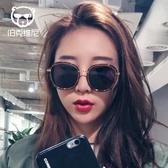 太陽眼鏡韓國復古個性太陽鏡女潮2019新款圓臉大臉大框明星款墨鏡時尚前衛眼鏡  後街五號