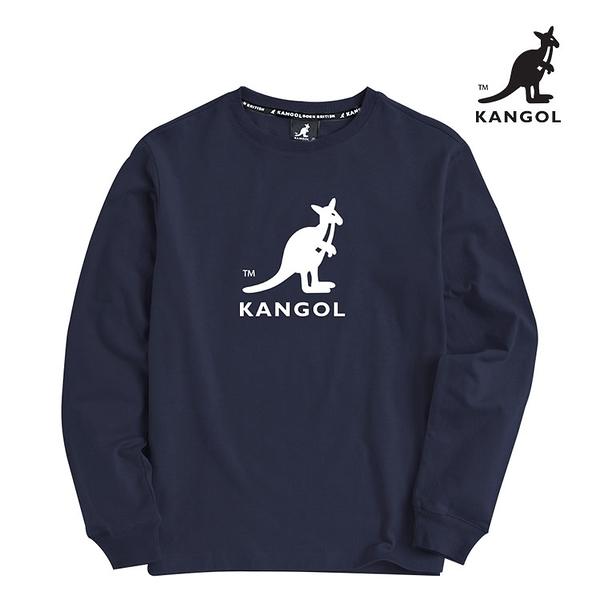 KANGOL 袋鼠 - 中間中袋鼠大學T 丈青【60551030】