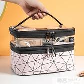 網紅化妝包女風超火小號便攜簡約洗漱包盒大容量旅行化妝品袋  萬聖節狂歡