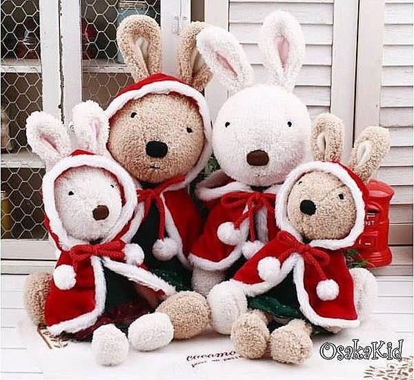 【發現。好貨】日本正品 le sucre 砂糖兔 法國兔娃娃 (聖誕披風裙子30公分款)