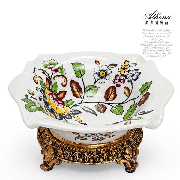【雅典娜家飾】花卉方型高腳陶瓷煙灰缸-EC20