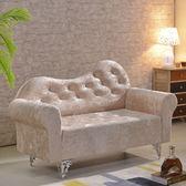 簡約歐式布藝沙發臥室雙人沙發店鋪單人三人小戶型沙發貴妃椅 定制尺寸XW