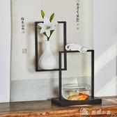 創意新中式家庭室內裝飾禮品玄關電視櫃現代簡約魚缸喬遷新居擺件 YXS 娜娜小屋