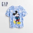 Gap男幼童 Gap x Disney 迪士尼系列印花短袖T恤 970361-藍色紮染