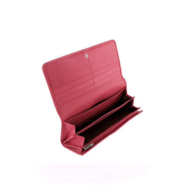 【LONGCHAMP】小羊皮對折長夾 (玫瑰粉) 3146737C88