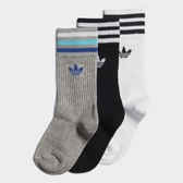 J-adidas 三葉草 童襪 小童襪 兒童 襪子 長襪 三入一組 休閒 運動 黑白灰 ED5905