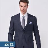 SST&C 男裝 鐵灰色紋理修身西裝外套   0112010009