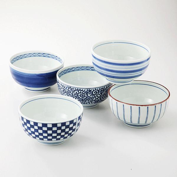 日本 西海陶器 藍屋繪變大碗-5入組