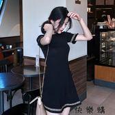流蘇針織連身裙潮氣質顯瘦女裝A字短裙