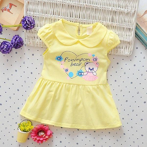 女童短袖洋裝 嬰幼兒連身裙 寶寶童裝 UG30703 好娃娃
