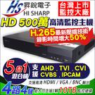 【昇銳】5MP 4路主機DVR 4路4聲 支援AHD/TVI/CVI/960H/IPC 監視器主機 720P 1080P 台灣安防