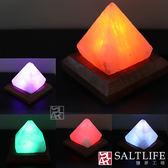【鹽夢工場】創意造型鹽燈-USB金字塔(彩變)