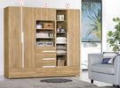 【森可家居】梅克爾7尺組合衣櫃(全組) 7ZX139-4 衣櫥 木紋質感 無印風 北歐風 衣物收納