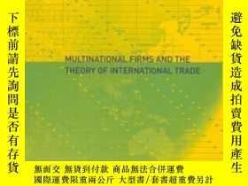 二手書博民逛書店Multinational罕見Firms And The Theory Of International Trad