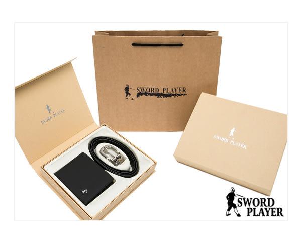 SWORD PLAYER - 莎普爾Foil款真皮皮帶+8卡1照真皮皮夾禮盒組