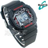Baby-G CASIO卡西歐 BGD-560SK-1D 美國滑板文化 藝術塗鴉 方形錶面 電子錶 黑色 女錶 BGD-560SK-1DR