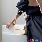 腋下包 側背包鹿子 2021春夏韓版新款簡約高級感腋下包鱷魚紋手提包單肩女包 上新