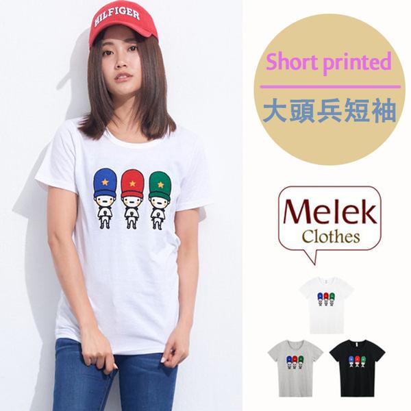 Melek 圖案上衣 (共3色) 現貨【T01170410-1401~03】女S藍紅綠帽大頭兵