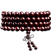 印度小葉紫檀手串108顆木男女手鍊