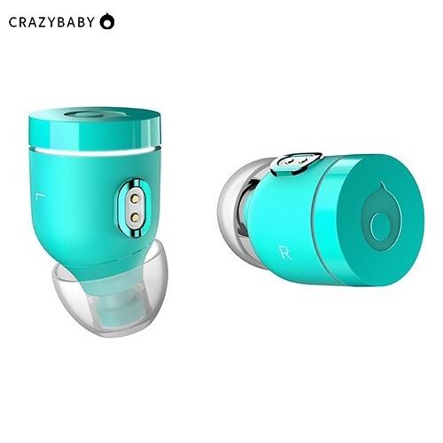 《crazybaby》Air by crazybaby (NANO)真無線耳機-湖水綠