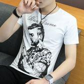 夏衣男士潮男霸氣印花純棉短袖t恤中國風個性刺青半袖體恤衣服【跨店滿減】