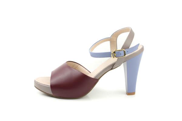 HUMAN PEACE 高跟 涼鞋 酒紅色 女鞋 no253