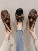 豆豆鞋 一腳蹬毛毛鞋女外穿冬季豆豆鞋加絨秋冬百搭平底小皮鞋潮 芊墨左岸