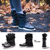 【四折特賣】Nike 靴子 Wmns Roshe Two Hi Flyknit 黑 白 皮面 飛線編織 NSW 女鞋 【PUMP306】 861708-002