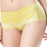 思薇爾-撩波系列蕾絲中低腰平口褲(楊桃綠)