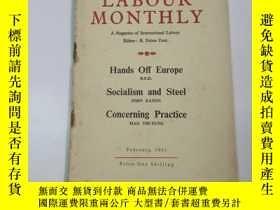 二手書博民逛書店1951年外文原版罕見勞工月刊(labour monthly)第