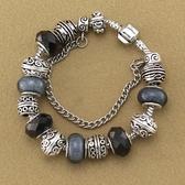 串珠手鍊-歐美時尚黑色系列水晶飾品女配件73kc472[時尚巴黎]