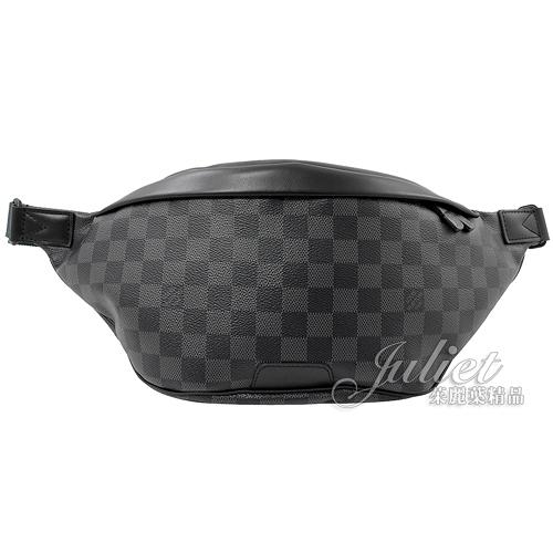 Louis Vuitton LV N40187 Discovery 黑灰棋盤格紋腰包/胸口包 全新 現貨【茱麗葉精品】