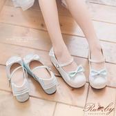 鞋子 蘿莉塔學院風水手領蝴蝶結厚底鞋-Ruby s 露比午茶
