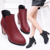 高跟鞋女裝秋鞋馬丁靴短靴