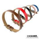 Z.MO鈦鋼屋 皮革項圈 XS~M 優質皮革材質 寵物項圈 多種顏色尺寸 簡約時尚 可刻字 單件價【UKPL101】