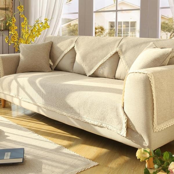 70*150沙發墊布藝四季通用棉麻簡約現代沙發套罩巾全包萬能套蓋防滑坐墊