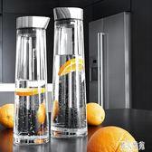 時尚耐高溫玻璃涼水瓶 冷水壺 水杯 檸檬果汁壺耐熱大容量 DJ12458『麗人雅苑』
