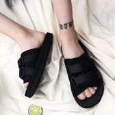 涼鞋 夏季韓版潮流個性防滑人字拖鞋男士涼拖帆布學生沙灘一字休閒涼鞋