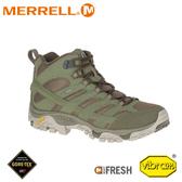 【MERRELL 美國 男 MOAB 2 MID GORE-TEX中筒健行鞋《深灰/軍綠》】ML99773W/登山